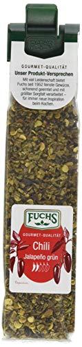 Fuchs Gewürze Chili Jalapeño grün geschrotet, 4er Pack (4 x 20 g)