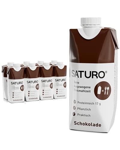 SATURO® Trinknahrung Schokolade   Astronautennahrung Mit Protein & 330kcal   Trinknahrung Mit Wertvollen Nährstoffen   8 x 330ml