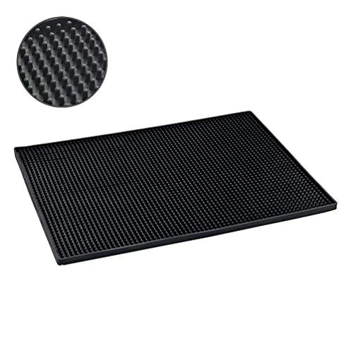 WENKO Abtropfmatte Maxi - Trockenmatte, Spülbeckenmatte für Geschirr, Kunststoff (TPR), 40 x 1 x 30 cm, Schwarz