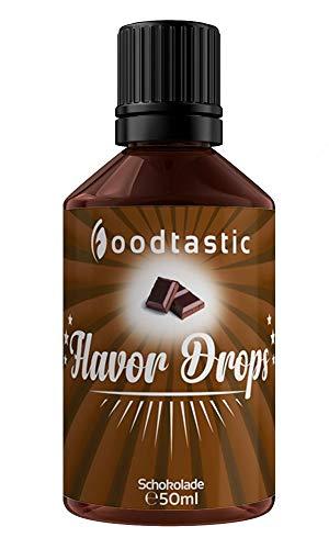 Foodtastic Flavor Drops Schokolade 50ml   Flavdrops Aroma Tropfen   kalorienfrei Süßen I ohne Zucker   Lebensmittelaroma Flavour Drops Flave Drops Geschmackstropfen