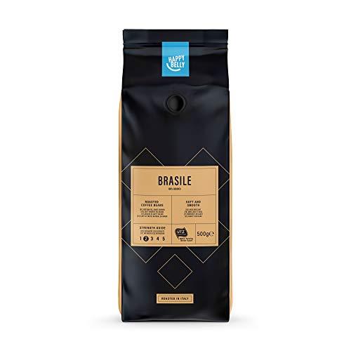 Amazon-Marke: Happy Belly Röstkaffee, ganze Bohnen 'BRASILE' (2 x 500g)