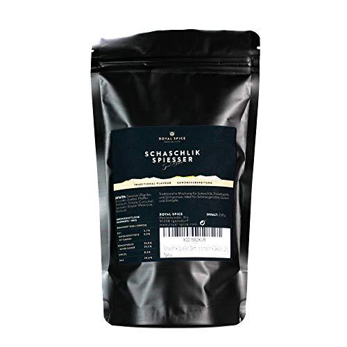 Royal Spice Schaschlik Spiesser - 250g - Schaschlik Gewürzmischung für Fleisch & Sauce - Deftige BBQ Gewürzmischung