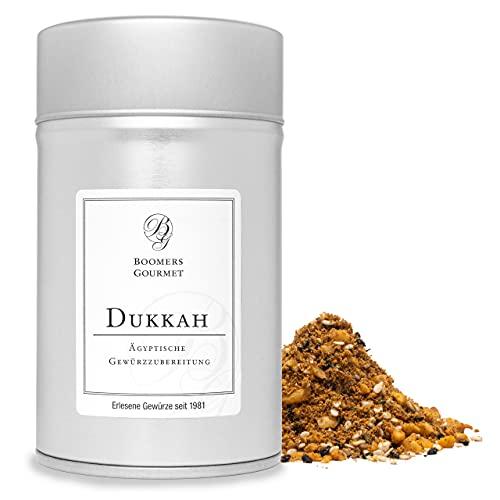 Boomers Gourmet - Dukkah I Dukka I Ducca - Ägyptische Gewürzmischung - Gewürzdose 11,5 cm - 150 g