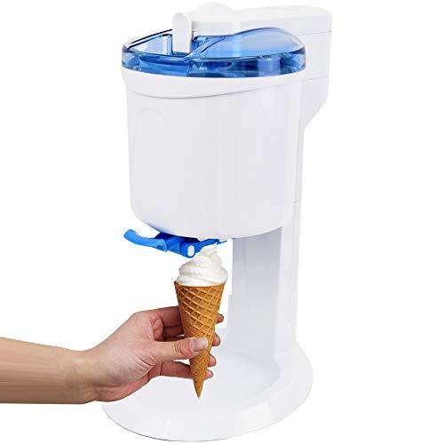 Gino Gelati GG-45W-Blue Rico 4in1 Softeismaschine, Eismaschine, Frozen Yogurt-Milchshake Maschine, Flaschenkühler