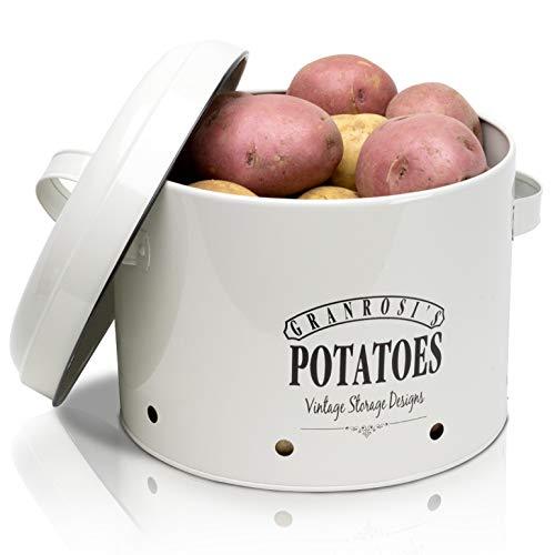 Granrosi Kartoffeltopf im Retro Design - Geräumiger Behälter hält Kartoffeln länger frisch und ist EIN optisches Highlight in jeder Küche