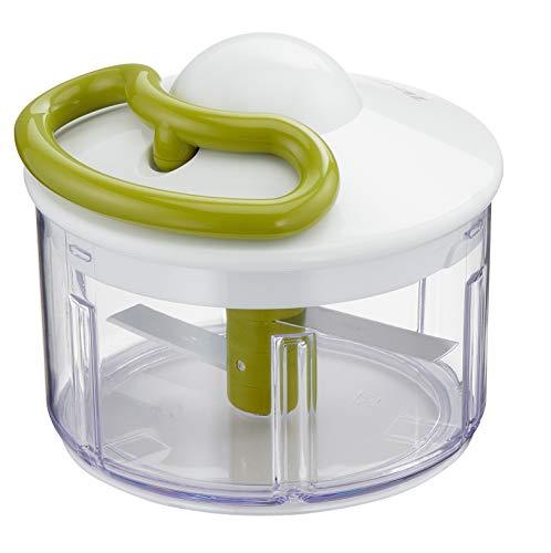 Tefal 5-Sekunden Zerkleinerer K13304 | Ohne Strom | Fassungsvermögen: 500 ml | Multizerkleinerer für Gemüse, Obst, Zwiebeln, Nüsse, Knoblauch, Babynahrung | Weiß/ Grün