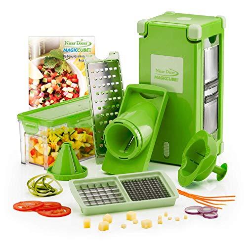 Genius Nicer Dicer Magic Cube  Grün   12 Teile   Obst- und Gemüseschneider
