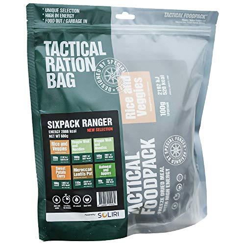 Tactical Foodpack - Ranger vegan/vegetarisch gefriergetrocknete Premium Mahlzeiten | Natürliche Zutaten, schnelle Zubereitung, Lange Haltbarkeit