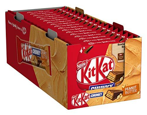 Nestlé KITKAT CHUNKY Peanut Butter Schokoriegel mit Erdnusscreme, 20er Pack (á 4 x 42g)