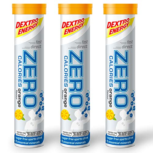 Dextro Energy Elektrolyte Sport Tabletten, Orange, 20 Elektrolyt Tabletten (3er Pack)