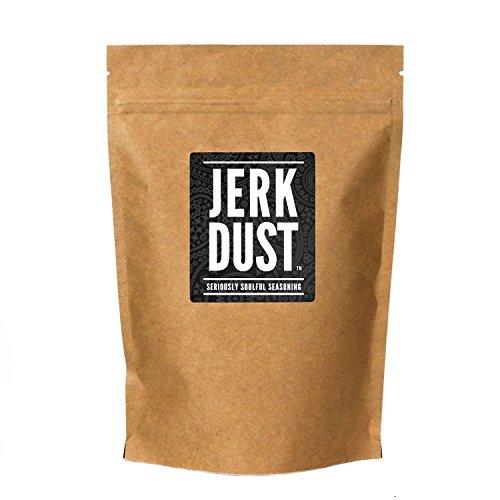 Jerk Dust - Jamaika Gewürz & BBQ Grill Mischung- 'Echt gefühlvolle Würze' - MSG Frei Keine Künstlichen Aromen - Für Vegetarier & Veganer geeignet - große Packung (225g) von Nifty Kitchen