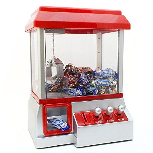 GOODS+GADGETS Candy Grabber Süßigkeitenautomat Süßigkeiten Greifautomat Greifer Spielautomat rot