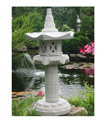Yukimi auf Säule Hk japanische Steinlaterne Laterne