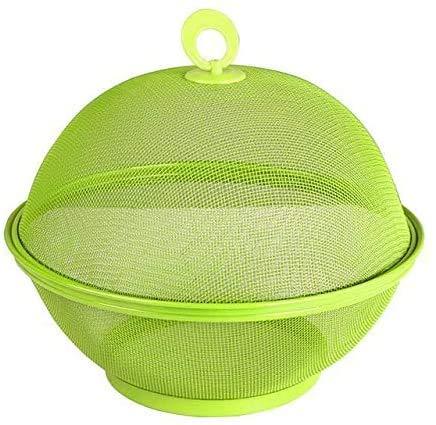 JUNGEN Obstkorb Obstaufbewahrungskorb Aufbewahrungskorb für Obst und Gemüse Mit Deckel Kunststoff (Grün)
