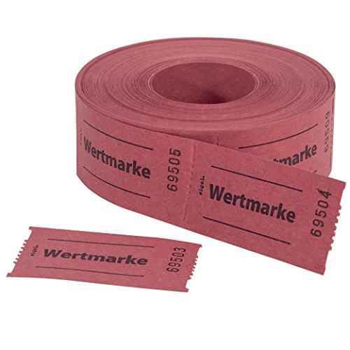 SIGEL GR554 Wertmarken Gutscheinmarken Rolle rot, 500 Bons