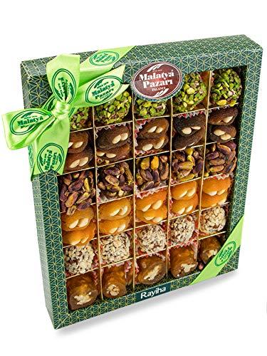 Palanci   Rayiha   Gesunde Snacks Mix   550 gr.   vegane Süssigkeiten Mix   zuckerarm   getrocknete Aprikosen, Pistazien, Mandeln, Walnüsse in Traubensirup   Trockenfrüchte   Geschenkset