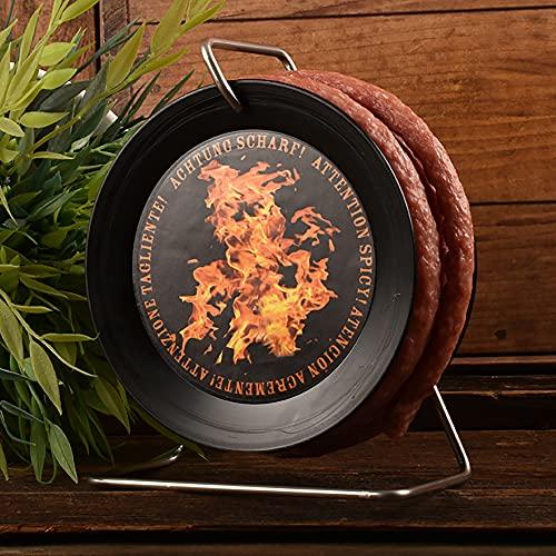 WURSTBARON® - Scharfe Wurst-Kabeltrommel - SCHARFE Snack-Salami / Chorizo auf Mini-Kabeltrommel - 3,5 Meter 240 g