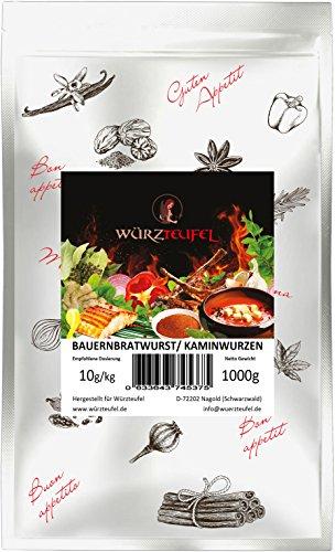 Pfefferbeißer, Kaminwurzen, Bauernbratwurst - Gewürz. Für rohgereifte Wurstsorten. Beutel: 1000g. (1KG).