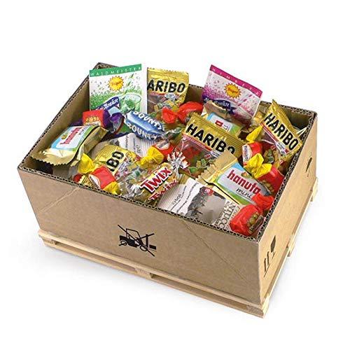 Monsterzeug Süßigkeiten Geschenkset, Geschenkbox auf Mini Palette, Geschenkidee für Naschkatzen, Süßigkeitenbox für Kinder und Erwachsene