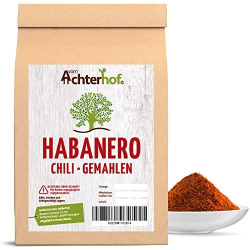 50 g Habanero Chili Pulver EXTREM SCHARF 280-300.000 Scoville Schärfegrad 10 ! Die schärfste Chili der Welt