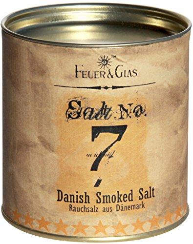 Dänisches Rauchsalz Salt No. 7 - Geräuchertes Salz als Gourmet Salz - Danish Smoked Salt – Ideal als Salz-Geschenk - Kostbare Dänische Salzflocken – Eine Dänische Delikatesse – von Feuer & Glas