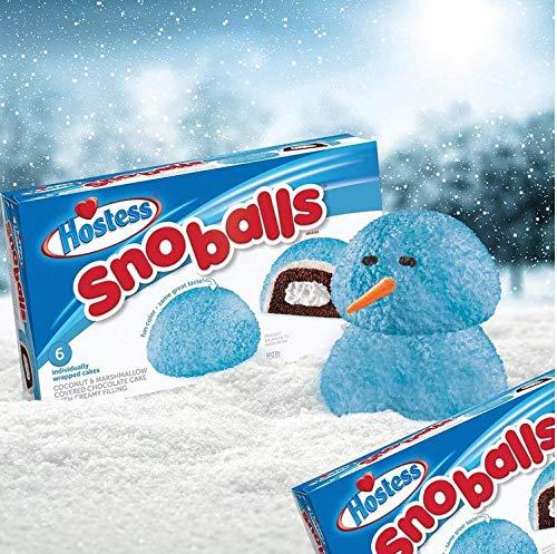 Hostess Snoballs - 6 Pack - Blue Snowballs Same Flavour just Fun Colour - 298g…