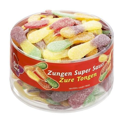 Red Band Zungen Super Sauer - Großpackung: 6 x 1,2 kg - Fruchtgummi - Ein Sauer-Süßes Weingummi-Erlebnis mit Suchtfaktor - Holländische Qualität - Süßigkeiten