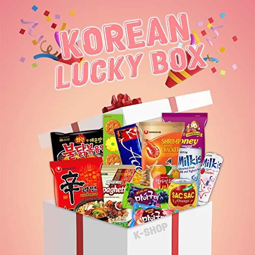 Korean Lucky Box XXL - 22 verschiedene selektierte Snack, Ramen, Drinks und mehr