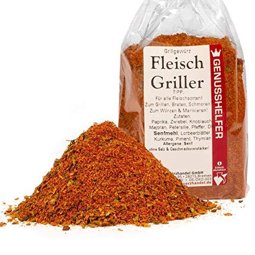 Fleisch Griller 100 Gramm gemahlene Gewürzmischung für Fleisch und Marinade, ohne Zusatzstoffe & ohne Geschmacksverstärker - Bremer Gewürzhandel