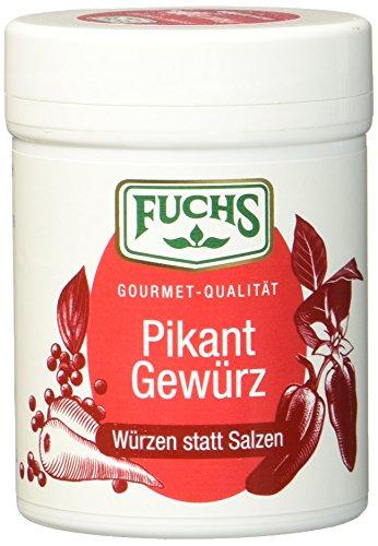 Fuchs Würzen statt Salzen 'Pikant' Salzersatz Gewürzmischung, auf Paprikabasis, Gewürz zum Kochen und Würzen ohne Salz, 3er Pack (3 x 60 g)