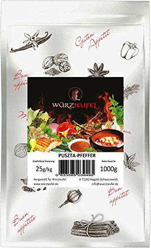 Puszta - Pfeffer. Puszta – Feuer. Würzige ungarische Grill – Gewürzzubereitung. Steak – Gewürz. Beutel 1000g. (1KG)