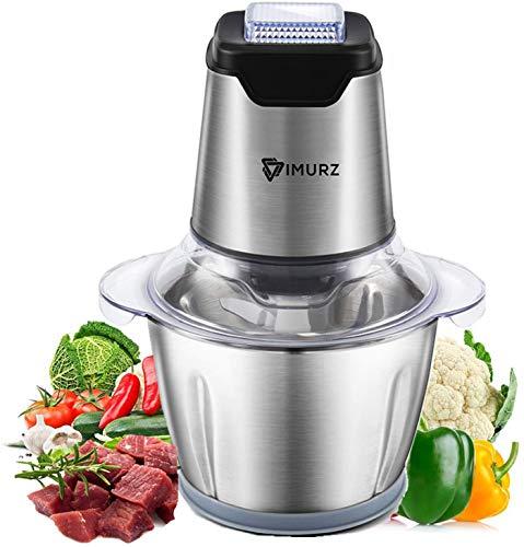 Elektrisch Universalzerkleinerer, 600W Multi-Zerkleinerer,1.2L Edelstahlschüssel,4-flügeliges Edelstahlmesser,Küchenwolf für Fleisch, Gemüse, Obst, Babynahrung