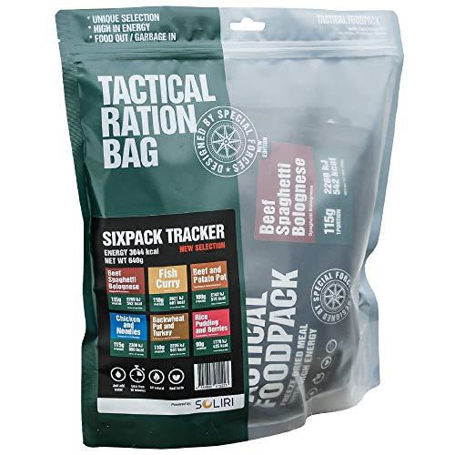 Tactical Foodpack - Tracker   gefriergetrocknete Premium Mahlzeiten - Instant Outdoor Nahrung für Camping, Trekking und Büro   Natürliche Zutaten, schnelle Zubereitung, Lange Haltbarkeit