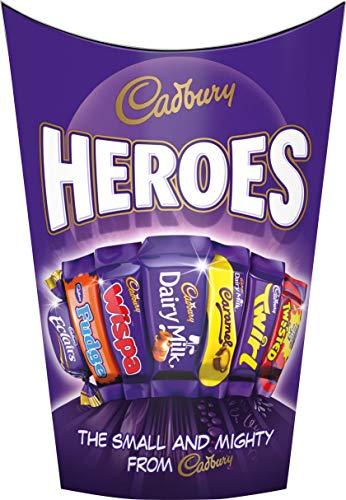 Cadbury Heroes Schokoladenmix – köstlich cremige Schokolade im bunten Mix – vielfältige Mischung aus feinsten Süßigkeiten – perfekt zum Teilen