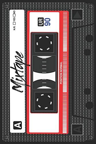 Mixtape Notizbuch: Kassette Retro Notizbuch Planer Tagebuch Schreibheft - Geschenk für Fans der 80er und 90er Jahre (15,2 x 22.9 cm, 6' x 9', 120 ... Geschenkidee Zum Geburtstag & Zu Weihnachten