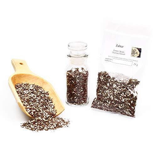 Zahtar Gewürzmischung für Dips, Afrika Gewürze Kräutermischung mit Sumach, Zaatar Gewürz, für arabisches Fladenbrot, Spice Blend, glutenfrei, 25g