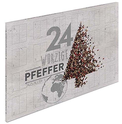 Großer Pfeffer Adventskalender - Gewürzkalender mit 24 erlesenen Pfeffersorten aus aller Welt für Feinschmecker