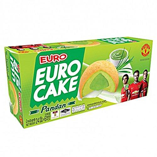 Euro Cake Thai Biskuit Küchlein mit Pandan Creme Füllung 144g
