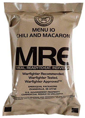 Militär US Army MRE NATO Lebensmittelverhältnis Notfallkampf Überlebens Camping Mahlzeit 1-24 - 6# Beef Taco