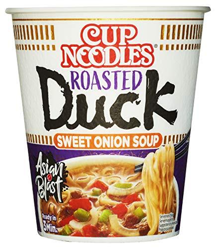 Nissin Cup Noodles – Roasted Duck, 8er Pack, Soup Style Instant-Nudeln japanischer Art, mit Entenfleisch-Geschmack & Gemüse, schnell im Becher zubereitet, asiatisches Essen (8 x 65 g)