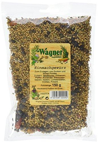 Wagner Einmachgewürz grob im 5er Pack (5 x 150 g) - aromatische Gewürzmischung zum Einmachen, Einlegen und Fermentieren