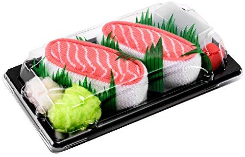 Rainbow Socks - Damen Herren - Sushi Socken Lachs - Lustige Geschenk - 1 Paar - Größen 36-40