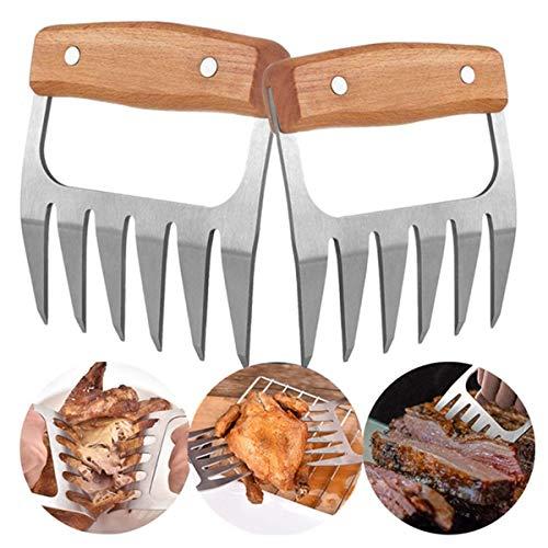 Opaceluuk Barbecue-Krallen für Pulled Pork, BBQ Fleischzerkleinerer, Grill Smoker Bär Fleisch Pfoten Krallen, Smoked Barbecue Grillzubehör (schwarz)