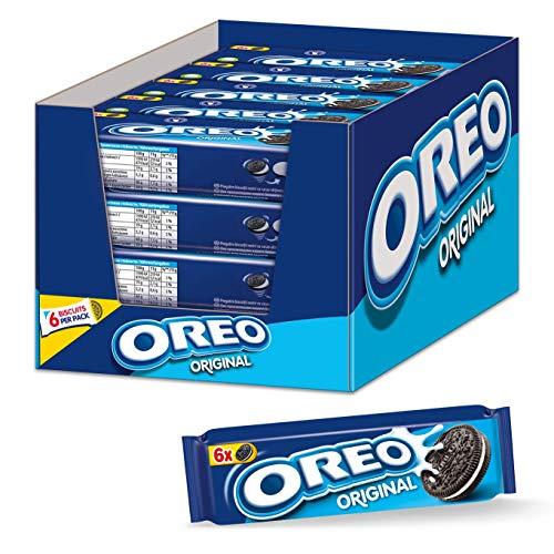 OREO Original 20 x 66g, Knuspriger Kakao Doppelkeks gefüllt mit Crème-Füllung
