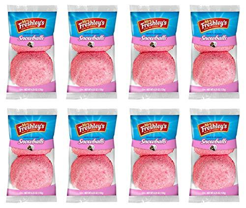 Mrs Freshley's Pink Snowballs - (2 Pack) 8count (16 Snowball's) - Mrs Freshleys …