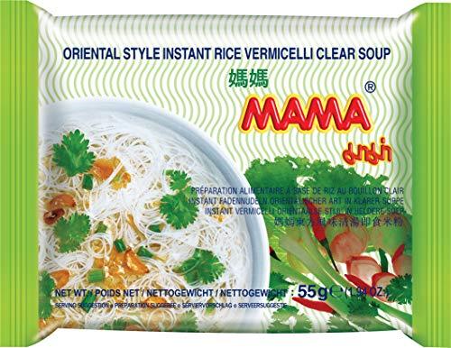 MAMA Vermicelli Reisnudeln klare Suppe – Instantreisnudeln orientalischer Art – Authentisch thailändisch kochen – 30 x 55 g