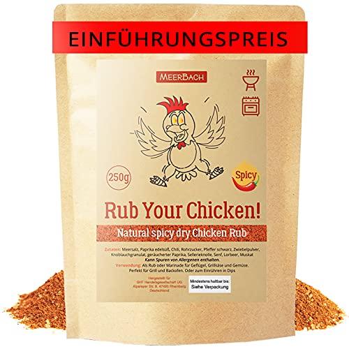 Chicken Rub, Hähnchen Gewürz, 250g Rub your Chicken – Spicy! Hähnchen Gewürzmischung mit einer gewissen Schärfe zum Grillen, Braten und Marinieren