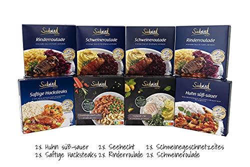 Schlemmer-Multipack 11 + 1 gratis - verschiedene Fertiggerichte für die Mikrowelle / Wasserbad - keine Versandkosten - Südwind Lebensmittel