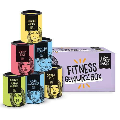 Just Spices Fitness Gewürzbox I 8 Gewürze für Fitness-Essen I Geschenkset für Frauen und Männer