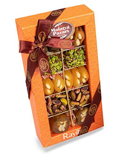 Palanci   Rayiha   Gesunde Snacks Mix   200 gr.   vegane Süssigkeiten Mix   zuckerarm   getrocknete Aprikosen, Pistazien, Mandeln, Walnüsse in Traubensirup   Trockenfrüchte   Geschenkset